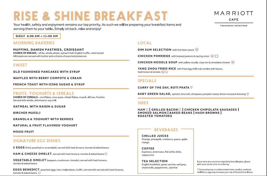 marriott breakfast