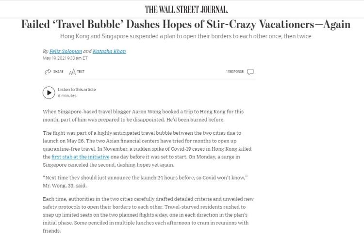 Wall Street Journal Snippets 2
